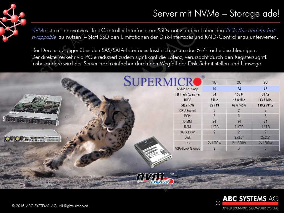Server mit NVMe, Storage ade!